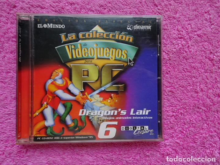 DRAGONS LAIR DIBUJOS ANIMADOS INTERACTIVOS VIDEO JUEGOS PARA PC 6 COLECCIÓN EL MUNDO 1998 (Juguetes - Videojuegos y Consolas - PC)