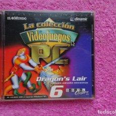 Videojuegos y Consolas: DRAGONS LAIR DIBUJOS ANIMADOS INTERACTIVOS VIDEO JUEGOS PARA PC 6 COLECCIÓN EL MUNDO 1998. Lote 288532238