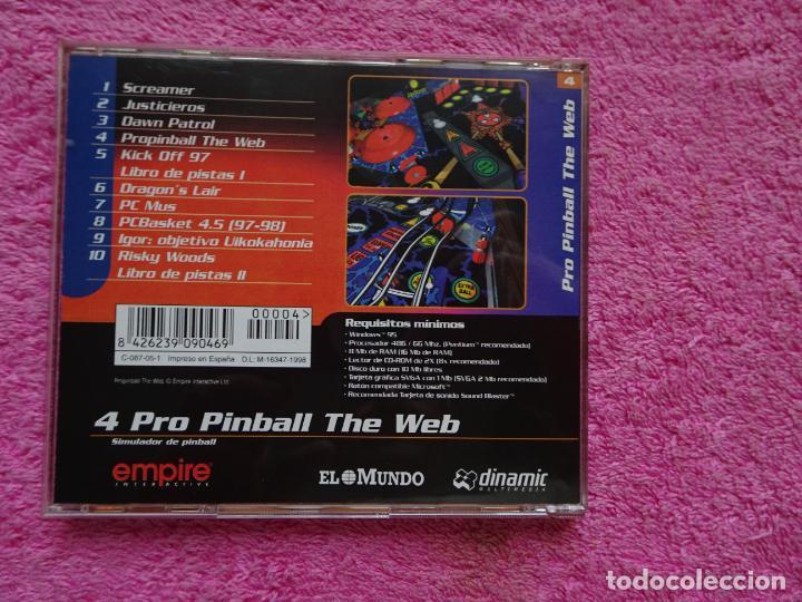 Videojuegos y Consolas: pro pinball the web simulador de pinball video juegos para pc 4 colección el mundo 1998 - Foto 5 - 288532928
