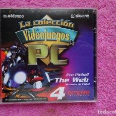 Videojuegos y Consolas: PRO PINBALL THE WEB SIMULADOR DE PINBALL VIDEO JUEGOS PARA PC 4 COLECCIÓN EL MUNDO 1998. Lote 288532928