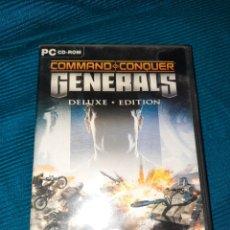 Videojuegos y Consolas: COMAND CONQUER GENERALS, DELUXE EDITION. PC CD-ROM, EA GAMES,EN ESPAÑOL. GUIA INSTALACIÓN, MANUAL. Lote 288574558