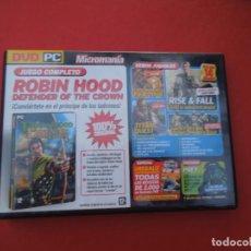 Videojuegos y Consolas: MICROMANIA Nº 137 JUNIO 2006 - ROBIN HOOD DEFENDER OF THE CROWN - DVD PC. Lote 289869123
