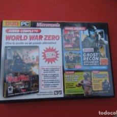 Videojuegos y Consolas: MICROMANIA Nº 151- WORLD WAR ZERO - DVD PC. Lote 289869958