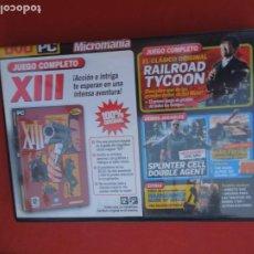 Videojuegos y Consolas: MICROMANIA Nº 144- XIII - DVD PC. Lote 289870958