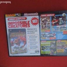 Videojuegos y Consolas: MICROMANIA Nº 143- IMPOSSIBLE CREATURES - DVD PC. Lote 289871743