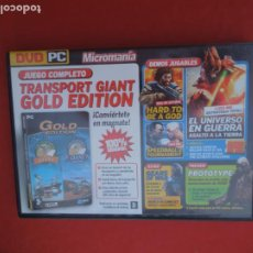 Videojuegos y Consolas: MICROMANIA Nº 158- TRANSPORT GIANT - GOLD EDITION - DVD PC. Lote 289872148