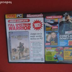Videojuegos y Consolas: MICROMANIA Nº 159- FULL SPECTRUM WARRIOR - DVD PC. Lote 289874143