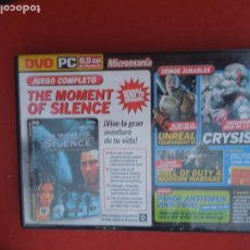 Videojuegos y Consolas: MICROMANIA Nº 155- THE MOMENT OF SILENCE - DVD PC. Lote 289875153