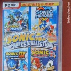 Videojuegos y Consolas: SONIC PC COLLECTION -6 DISCOS -INCLUYE MAS DE 15 JUEGOS - INGLES CASTELLANO. Lote 290194013