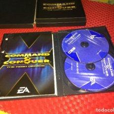 Videojogos e Consolas: COMMAND & CONQUER - THE FIRST DECADE - EA - VERSION INGLESA - AÑO 2006 - ESTUCHE Y DOBLE CD. Lote 292243303