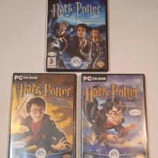 Videogiochi e Consoli: HARRY POTTER 3 JUEGOS PARA ORDENADOR PC CD-ROM - EN CASTELLANO - EA GAMES - VER FOTOS. Lote 292244118