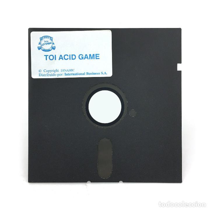 Videojuegos y Consolas: TOI ACID GAME IBER SOFT FLOPPY DISK 5,25 DINAMIC BOLLYCAO RARE DISCO 5 ¼ IBM MS DOS PC COMP DISKETTE - Foto 2 - 252790590