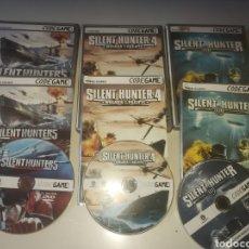Videojuegos y Consolas: JUEGOS PC SILENT HUNTER , 3 , 4 Y 5. Lote 296585218