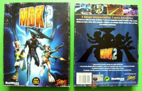 Videojuegos y Consolas: MDK 2 - PC - CAJA DE CARTON GRANDE - ¡¡NUEVO Y PRECINTADO (JUEGO Y MANUAL)!! - Foto 2 - 24583174