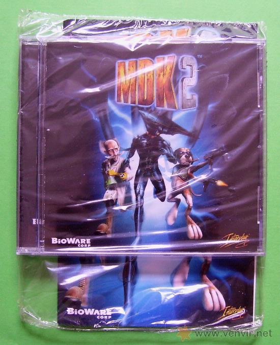 Videojuegos y Consolas: MDK 2 - PC - CAJA DE CARTON GRANDE - ¡¡NUEVO Y PRECINTADO (JUEGO Y MANUAL)!! - Foto 3 - 24583174