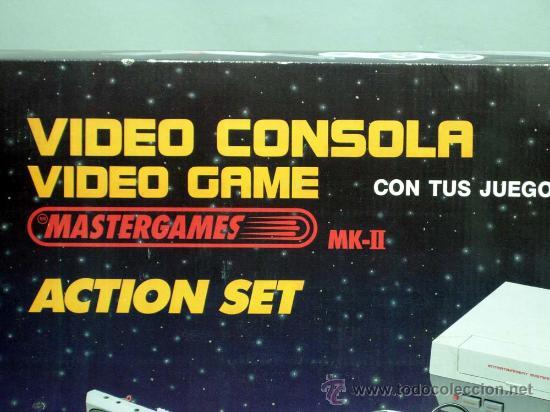 Videojuegos y Consolas: Video consola Mastergames MK II Action Set para televisor años 80 nueva sin uso - Foto 2 - 97105399
