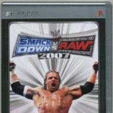 Videojuegos y Consolas: SMACK DOWN VS RAW 2007 [PSP]. Lote 23598831