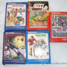 Videojuegos y Consolas: 5 VIDEO JUEGO CARTUCHO BASKETBALL HAPPY TRAILS LOCK N CHASE SOCCER INTELLIVISION MATTEL ELECTRONICS. Lote 28223371