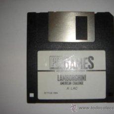 Videojuegos y Consolas: JUEGO DISKETE 3,5 PULGADAS PC GAMES LAMBORGHINI AMERICAN CHALLENGE AUTOMOVIL 1994. Lote 29509334