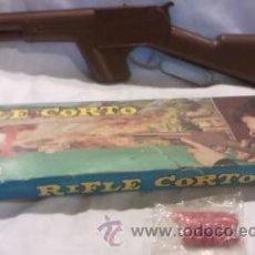 Videojuegos y Consolas: RIFLE CORTO DE PLÁSTICO Y METAL DE GONHER EN CAJA ORIGINAL. Lote 39978730