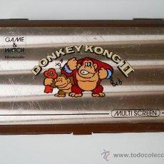 Videojuegos y Consolas: NINTENDO GAME AND WATCH DONKEY KONG II ORIGINAL 100% AÑO 1983. Lote 30966075