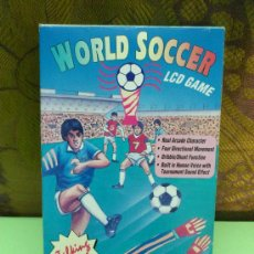 Videojuegos y Consolas: JJ MAQUINITA TALKING WORLD SOCCER LCD GAME. FUTBOL PARLANTE. FUNCIONA.... Lote 31698399