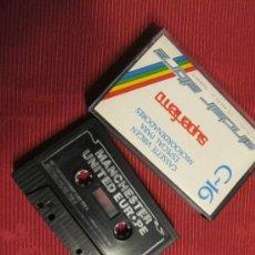 Videojuegos y Consolas: M69 ANTIGUO JUEGO PARA AMSTRAD MANCHESTER UNITED EUROPE CASSETTE PROBADO. Lote 32087646