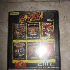 Videojuegos y Consolas: M69 CAJA CON DOS CINTAS DE JUEGOS PARA AMSTRAD VOL. 3 6 PAK 6 JUEGOS CLASICOS. Lote 33230015