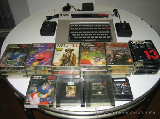Videojuegos y Consolas: Videoconsola. Videopac Computer PHILIPS G7000, con 22 juegos. Funciona - Foto 2 - 33644839
