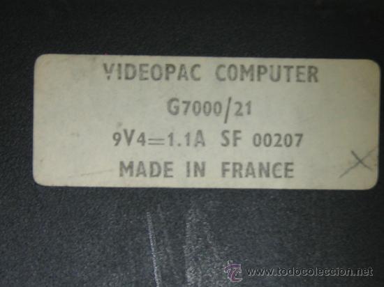 Videojuegos y Consolas: Videoconsola. Videopac Computer PHILIPS G7000, con 22 juegos. Funciona - Foto 17 - 33644839