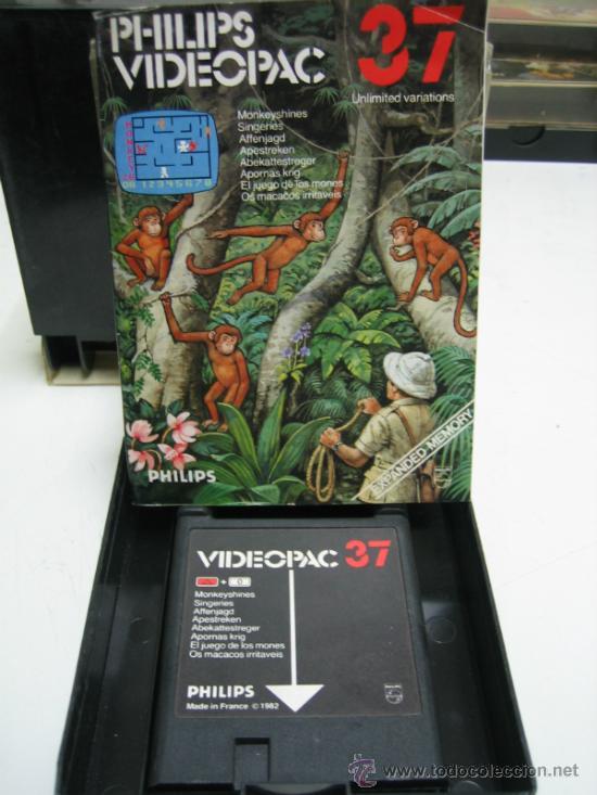 Videojuegos y Consolas: Videoconsola. Videopac Computer PHILIPS G7000, con 22 juegos. Funciona - Foto 20 - 33644839