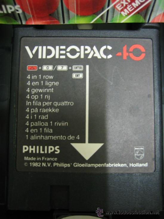 Videojuegos y Consolas: Videoconsola. Videopac Computer PHILIPS G7000, con 22 juegos. Funciona - Foto 47 - 33644839