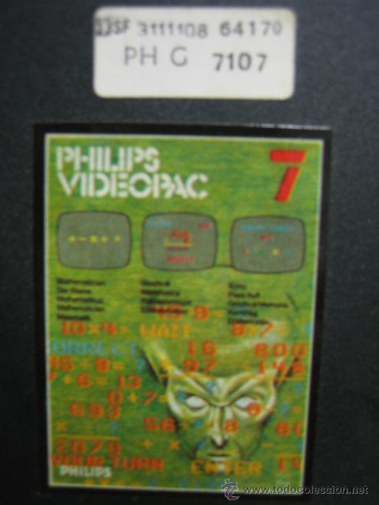 Videojuegos y Consolas: Videoconsola. Videopac Computer PHILIPS G7000, con 22 juegos. Funciona - Foto 60 - 33644839