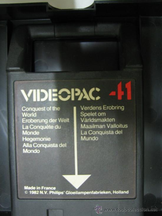 Videojuegos y Consolas: Videoconsola. Videopac Computer PHILIPS G7000, con 22 juegos. Funciona - Foto 64 - 33644839