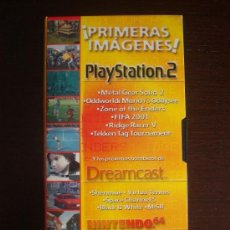 Videojuegos y Consolas: VIDEO VHS PRIMERAS IMÁGENES PLAYSTATION 2 / BOMBAZOS DREAMCAST / NINTENDO 64 - HOBBY CONSOLAS. Lote 34561554