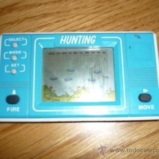 Videojuegos y Consolas: MAQUINITA ELECTRONICA ELECTRONIC GAME HUNTING AZUL MUY DIFICIL!!! SIN TAPA NI MARCA BUEN PRECIO. Lote 36193313