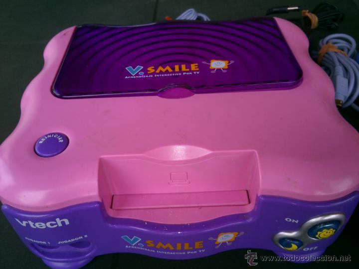 Videojuegos y Consolas: consola infantil v smile completa 2 mandos y 2 juegos - Foto 3 - 40098549