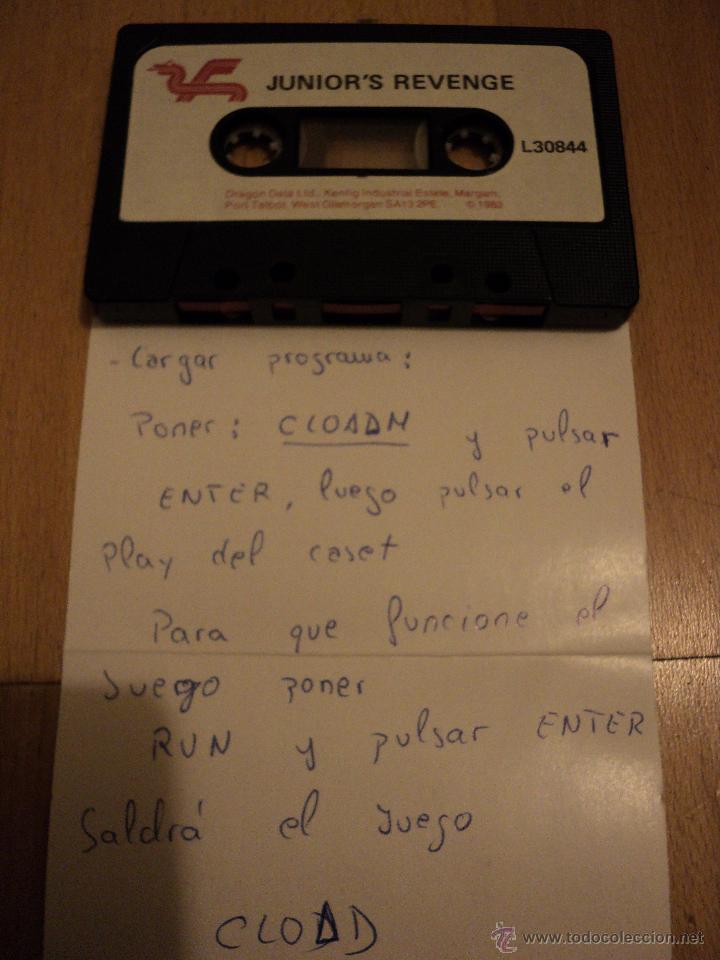 Videojuegos y Consolas: Juego JUNIOR´S REVENGE de Dragon Computer System. - Foto 2 - 40129514