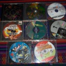 Videojuegos y Consolas: LOTE 8 JUEGOS SÓLO EL DISCO: MOTO GP3, FOOTBALL TIGERS, DESAFÍO FROSTIES FOOTBALL 1, SPORT TENNIS.... Lote 43809622