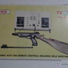 Videojuegos y Consolas: ANTIGUA VIDEO CONSOLA TEMCO T-106C TV COLOUR GAME + GUN 1977. Lote 41221132
