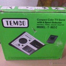Videojuegos y Consolas: JJ . CONSOLA TEMCO MODELO T- 802 C-PONG CON 4 JUEGOS. FUNCIONANDO. Lote 42784806