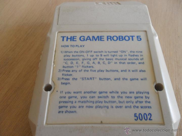 Videojuegos y Consolas: JUEGO MAQUINA THE GAME ROBOT 5 TAKATOKU TOYS MADE IN JAPAN - Foto 5 - 44174849