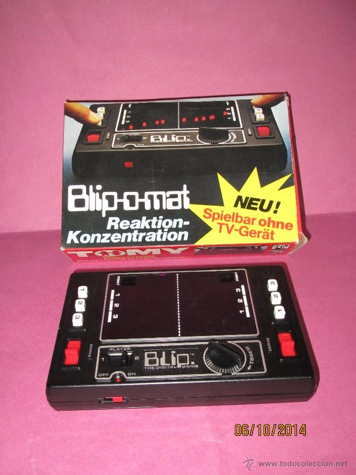 ANTIGUA CONSOLA VIDEOJUEGO * BLIP O MAT * REACCIÓN Y CONCENTRACIÓN DE TOMY MADE IN JAPAN - AÑO 1977. (Juguetes - Videojuegos y Consolas - Otros descatalogados)