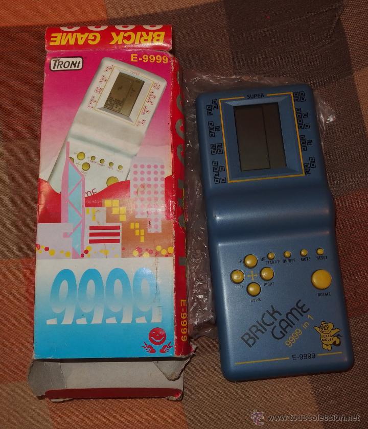 CONSOLA TRONI BRICK GAME 9999 IN1,CAJA ORIGINAL,A ESTRENAR,AÑOS 90 (Juguetes - Videojuegos y Consolas - Otros descatalogados)
