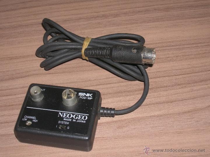 CABLE DE ANTENA ORIGINAL CONSOLA NEO GEO AES SNK (Juguetes - Videojuegos y Consolas - Otros descatalogados)