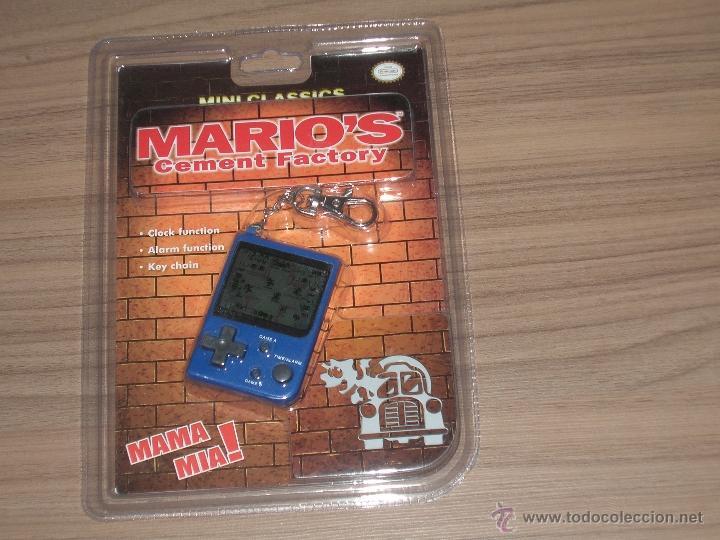 MARIO'S CEMENT FACTORY GAME WATCH MINI CLASSICS NUEVA A ESTRENAR CON BLISTER CON PILAS INCLUIDAS (Juguetes - Videojuegos y Consolas - Otros descatalogados)