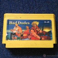 Videojuegos y Consolas: JUEGO CLONICO NES FAMICOM BAD DUDES/PARA CONSOLAS DE 8 BITS TIPO FAMICLONE 60 PINS. Lote 49269221