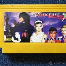 Videojuegos y Consolas: JUEGO CLONICO NES FAMICOM/BRUCE LEE 2/PARA CONSOLAS DE 8 BITS TIPO FAMICLONE 60 PINS. Lote 49269290