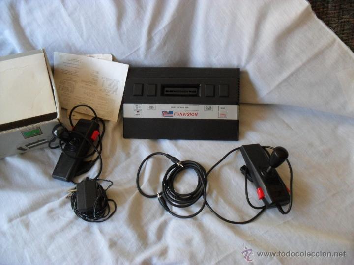 VIDEOCONSOLA FUNVISION,RARA,FUNCIONANDO Y COMPLETA (Juguetes - Videojuegos y Consolas - Otros descatalogados)