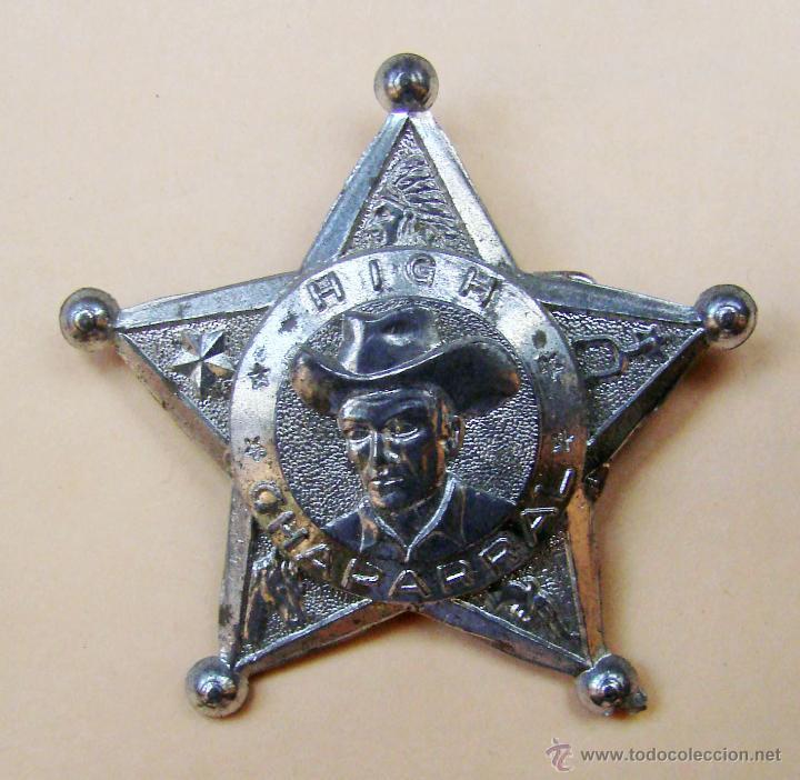 ESTRELLA DE SHERIFF DE PLASTICO PLATEADO Y AGUJA INPERDIBLE AÑOS 50 & 60...HIGH CHAPARRAL (Juguetes - Videojuegos y Consolas - Otros descatalogados)